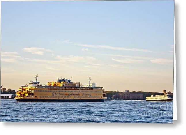 Staten Island Ferry Greeting Cards - Staten Island Ferry Greeting Card by David Bearden