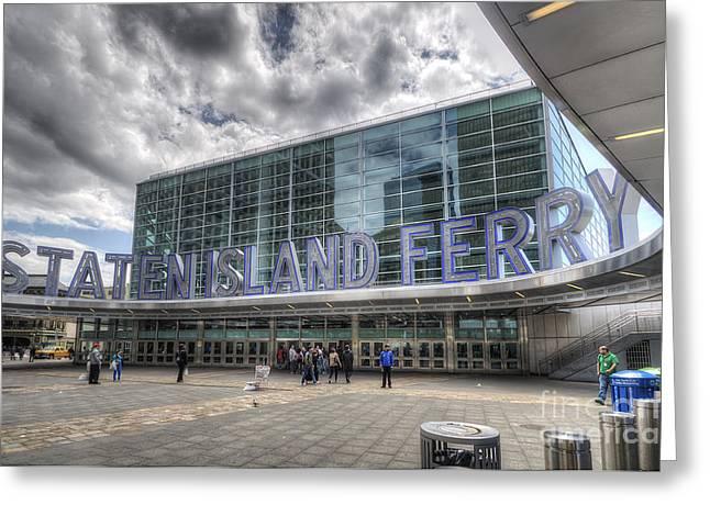 Staten Island Ferry Greeting Cards - Staten Island Ferry Greeting Card by Yhun Suarez