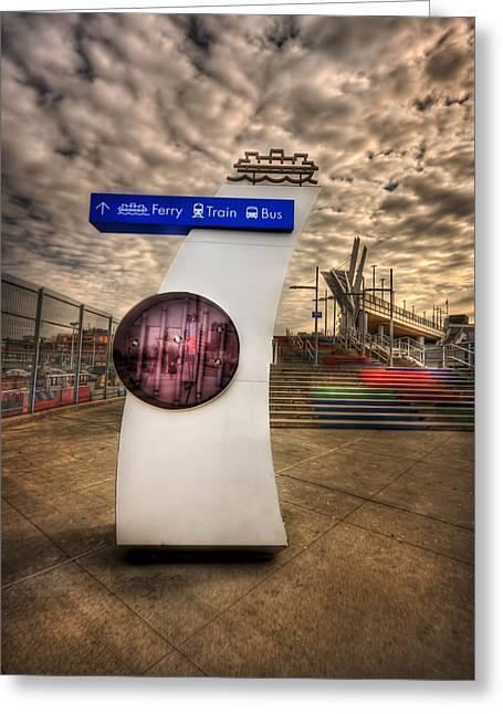 Staten Island Ferry Greeting Cards - Station Identification Greeting Card by Evelina Kremsdorf