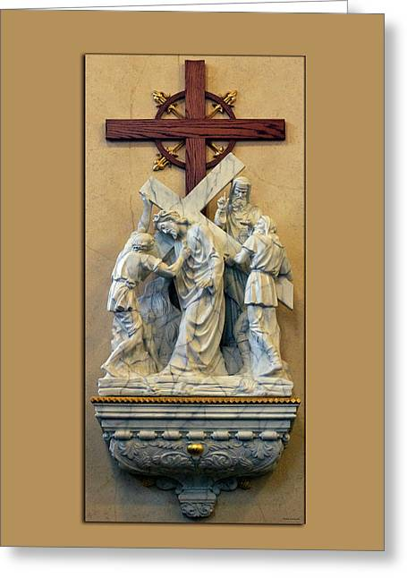 Station Of The Cross 05 Greeting Card by Thomas Woolworth