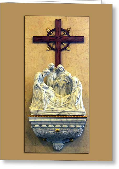 Station Of The Cross 14 Greeting Card by Thomas Woolworth