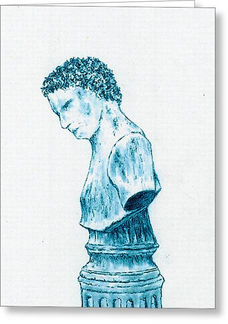 Roman Statue Greeting Cards - Statue  Greeting Card by Michael Vigliotti