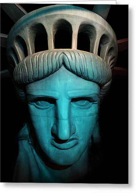 Bartholdi Greeting Cards - Statue of Liberty -  Liberty Enlightening the World - USA - America Greeting Card by Lee Dos Santos