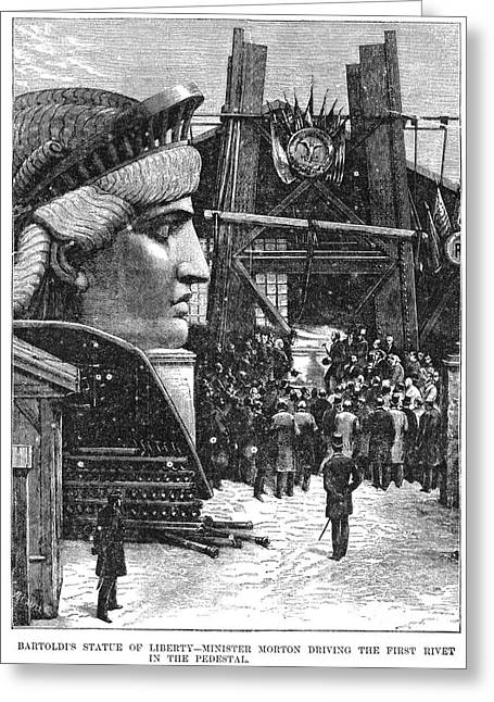 Levi Greeting Cards - Statue Of Liberty, 1881 Greeting Card by Granger