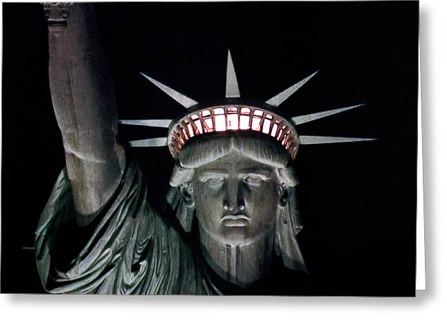 Libertas Greeting Cards - Statue of Liberty Greeting Card by David Pringle