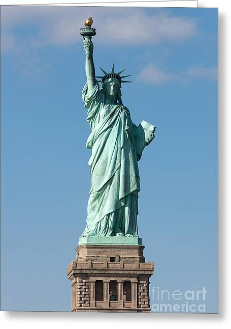 Statue Of Liberty Iv Greeting Card by Clarence Holmes