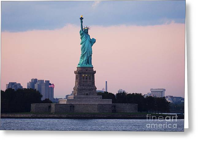 Staten Island Ferry Greeting Cards - Statue of Liberty Greeting Card by Jeremy Woodhouse