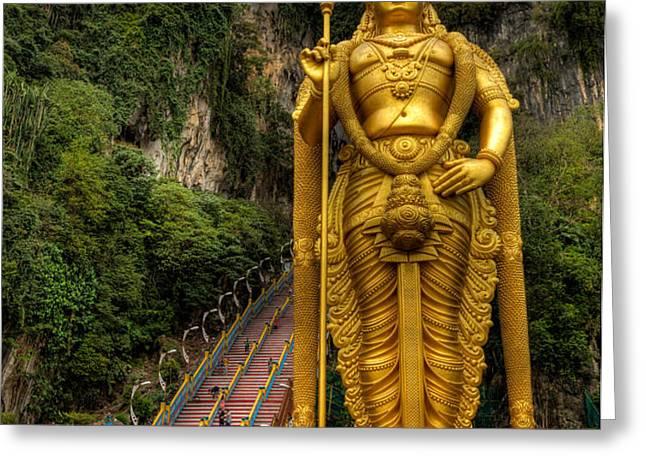 Statue of Murugan Greeting Card by Adrian Evans