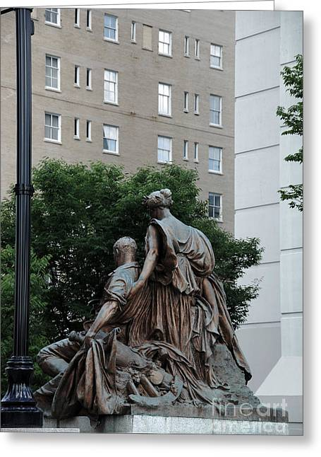 Historic Statue Greeting Cards - Statues in Nashville Greeting Card by Susanne Van Hulst