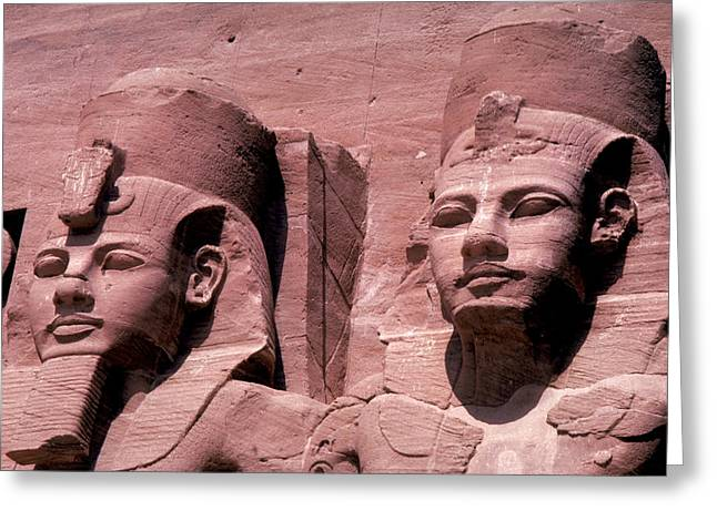 Statues Of Ramses II Greeting Card by Carl Purcell