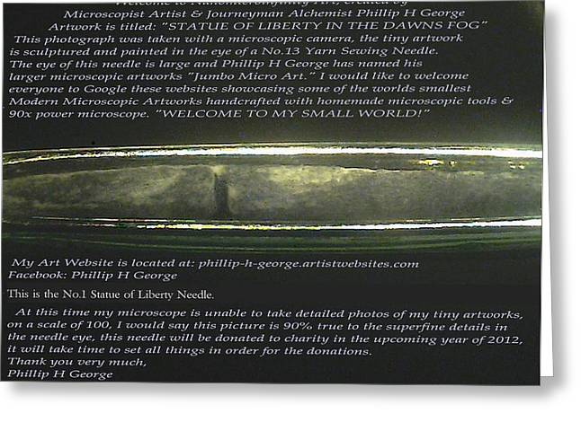 Nyc Reliefs Greeting Cards - Stature of Liberty In The Dawns Fog  Greeting Card by Phillip H George