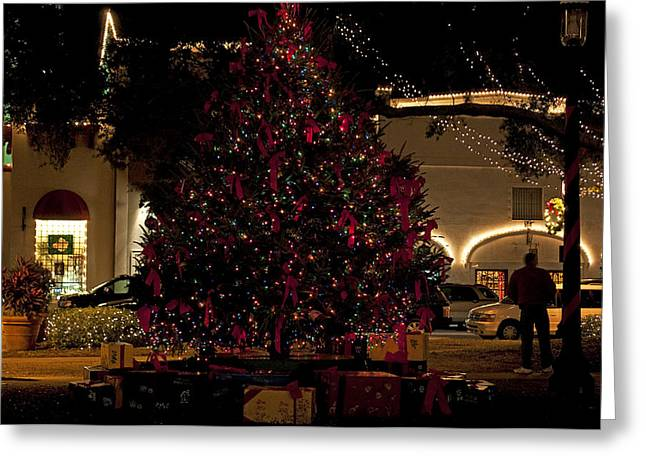 St.AugustineLights4 Greeting Card by Kenneth Albin