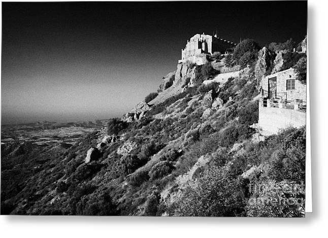 Kypros Greeting Cards - Stavrovouni Monastery Cyprus Greeting Card by Joe Fox