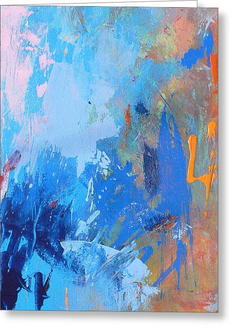 Modern Abstract Paintings Greeting Cards - Stay the Night Greeting Card by Jacquie Gouveia