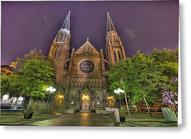 Ste. Anne de Detroit Greeting Card by Nicholas  Grunas