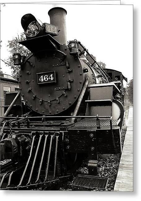 Huckleberry Railroad Greeting Cards - Steam Engine 464 Greeting Card by Scott Hovind