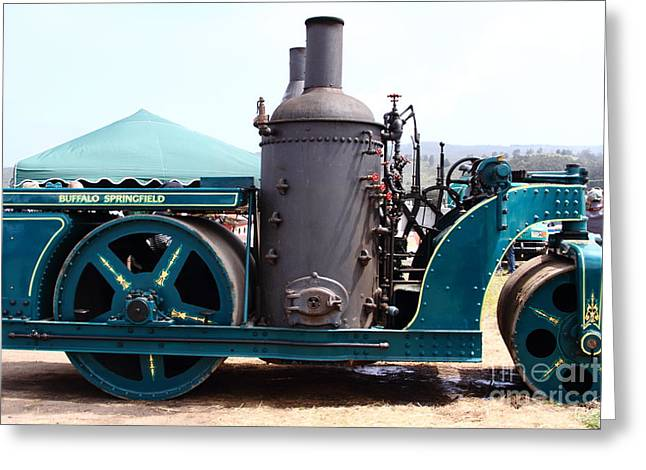 Steam Powered Roller 7d15116 Greeting Card by Wingsdomain Art and Photography