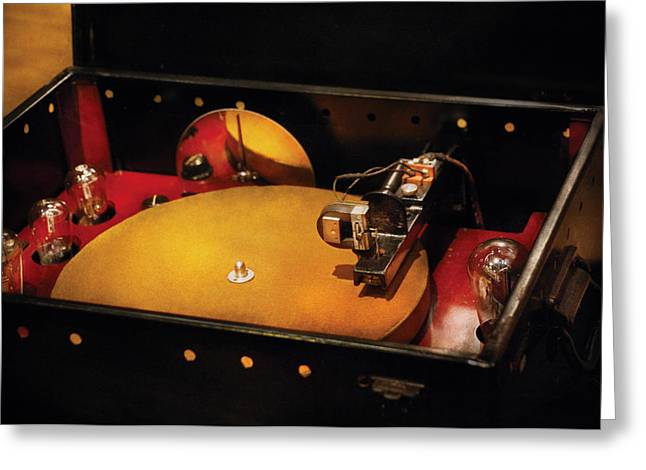 Steam Punk - Hey DJ Make some noise Cine-music System Greeting Card by Mike Savad