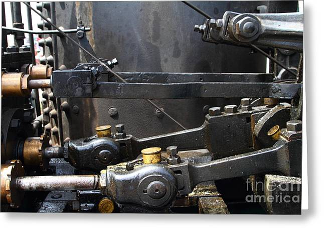 Steam Roller Engine Gizmos 7d15114 Greeting Card by Wingsdomain Art and Photography