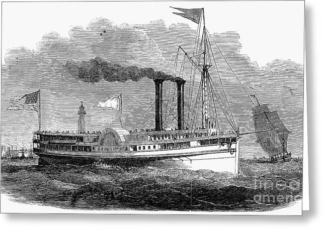 Steamboat Greeting Cards - Steamboat, 1850 Greeting Card by Granger