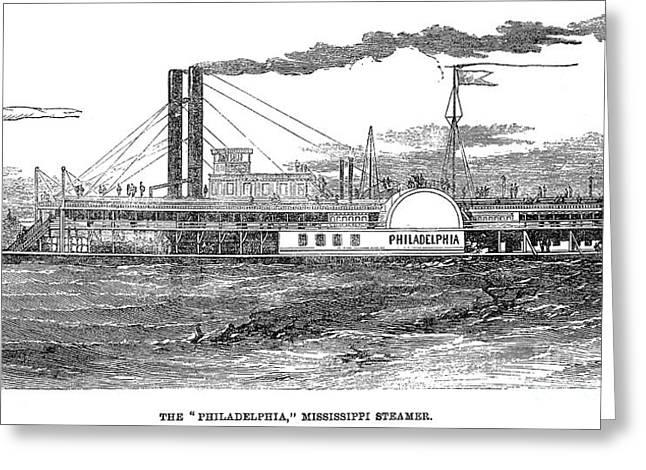 Steamboat Greeting Cards - Steamboat, 1859 Greeting Card by Granger