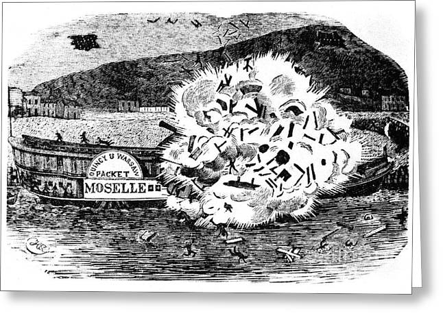 Steamboat Greeting Cards - Steamboat: Moselle Greeting Card by Granger