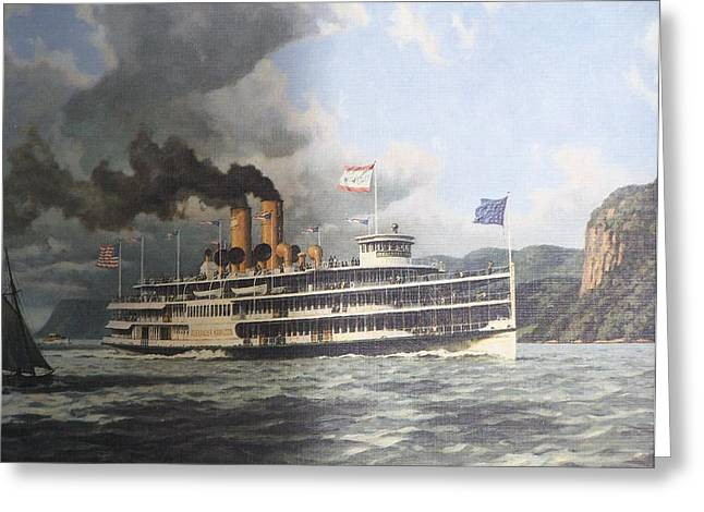 Mary Powell Greeting Cards - Steamer Alexander Hamilton William G Muller Greeting Card by Jake Hartz