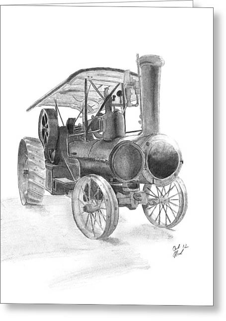 Spokes Drawings Greeting Cards - Steaming Up Greeting Card by Carl Muller