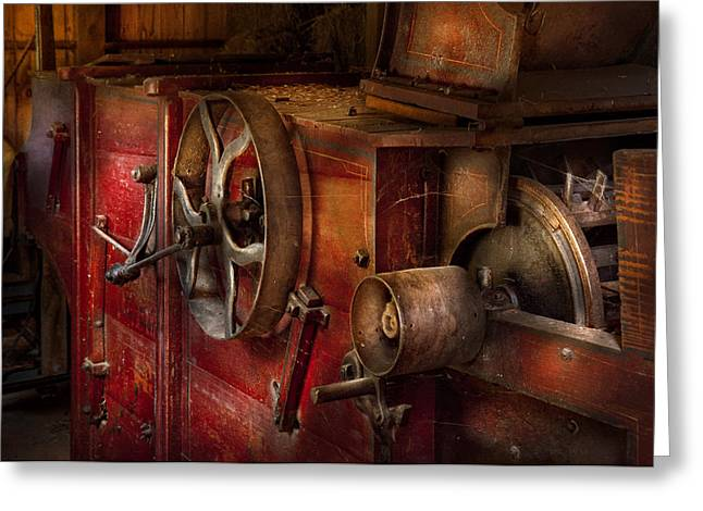 Mechanism Photographs Greeting Cards - Steampunk - Gear - It used to work Greeting Card by Mike Savad