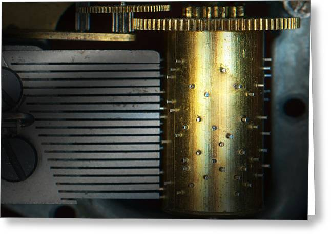 Steampunk - Gears - Music Machine Greeting Card by Mike Savad