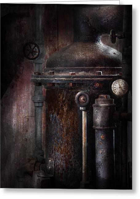 Mechanism Greeting Cards - Steampunk - Handling Pressure  Greeting Card by Mike Savad