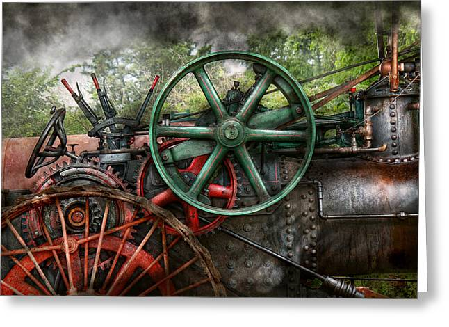 Meshed Greeting Cards - Steampunk - Machine - Transportation of the future Greeting Card by Mike Savad