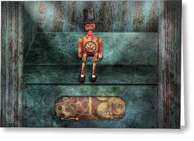 Mechanism Photographs Greeting Cards - Steampunk - My favorite toy Greeting Card by Mike Savad