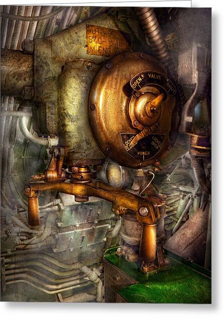 Steampunk - Naval - Shut The Valve  Greeting Card by Mike Savad