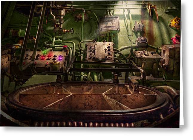 Steampunk - Naval - This is where I do my job Greeting Card by Mike Savad