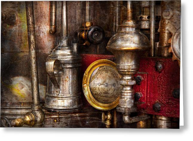 Mechanism Greeting Cards - Steampunk - Needs oil Greeting Card by Mike Savad