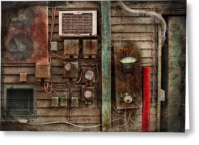 Customizable Greeting Cards - Steampunk - The Future  Greeting Card by Mike Savad