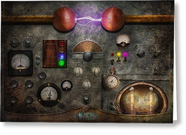 Steampunk - The Modulator Greeting Card by Mike Savad