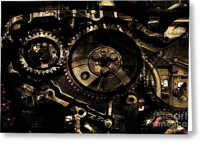 Knob Greeting Cards - Steampunk Personal Decompression Chamber Model 39875DA78803 Fully Accessorized . Gold Plated Luxury  Greeting Card by Wingsdomain Art and Photography