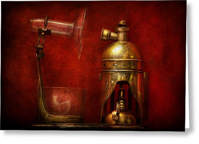 Mechanism Photographs Greeting Cards - Steampunk - The Torch Greeting Card by Mike Savad