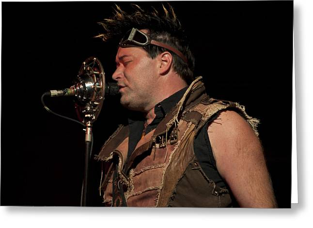 Abney Park Greeting Cards - Steampunks Finest Robert Brown Greeting Card by Sandra Sykes