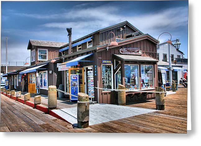 Pacific Ocean Prints Greeting Cards - Stearns Wharf I Greeting Card by Steven Ainsworth