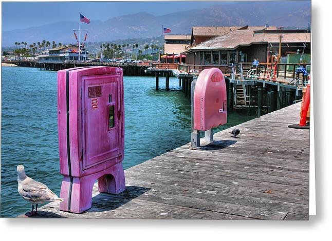 Pacific Ocean Prints Greeting Cards - Stearns Wharf IV Greeting Card by Steven Ainsworth