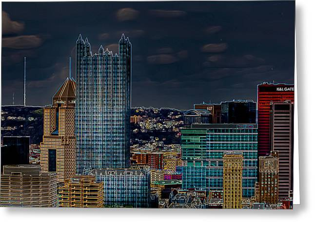Grandview Greeting Cards - Steel City Greeting Card by David Hahn