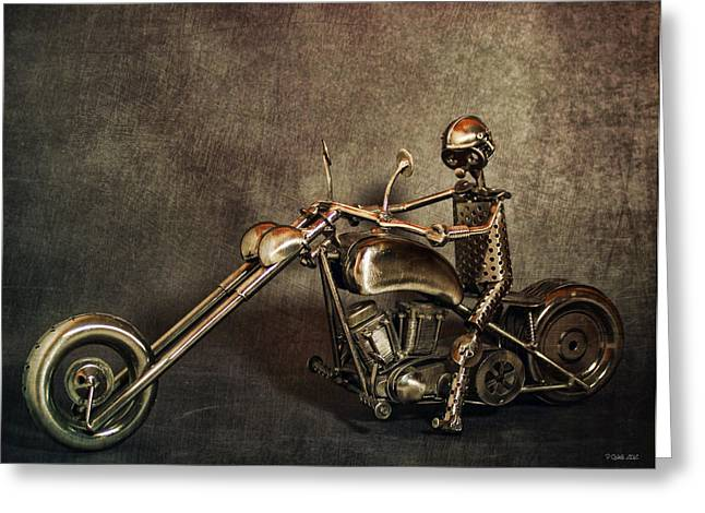 V Twin Greeting Cards - Steel Horse 2 Greeting Card by Peter Chilelli