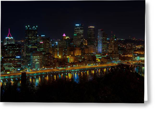 Incline Greeting Cards - Steeler Town Greeting Card by David Hahn