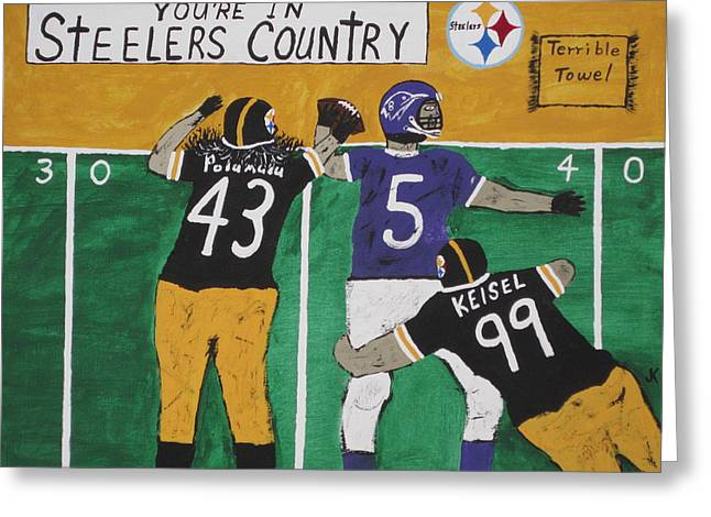 Heinz Paintings Greeting Cards - Steelers Country Greeting Card by Jeffrey Koss
