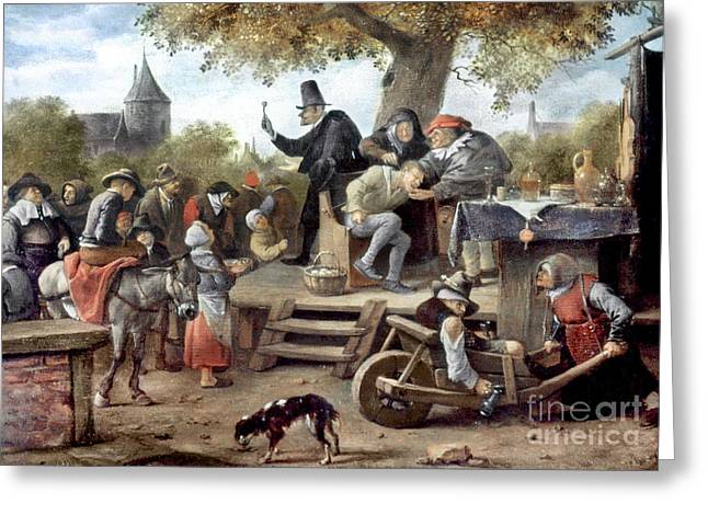 Steen Greeting Cards - STEEN: QUACK, 17th CENTURY Greeting Card by Granger