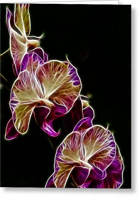 Orchis Greeting Cards - Steeped Orchid Jive Greeting Card by Bill Tiepelman