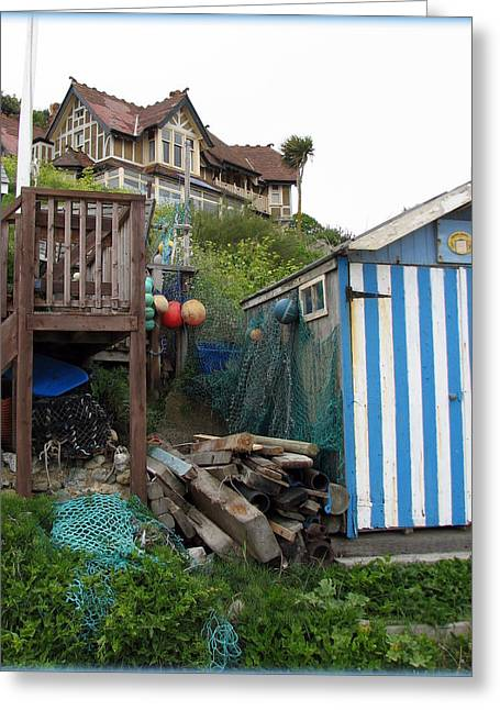 Carla Parris Greeting Cards - Steephill Cove Greeting Card by Carla Parris